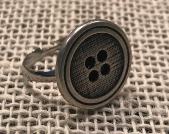 Vintage button ring!