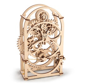 UGears Timer mechanical wooden model KIT 3D puzzle Assembly, Self-propelled