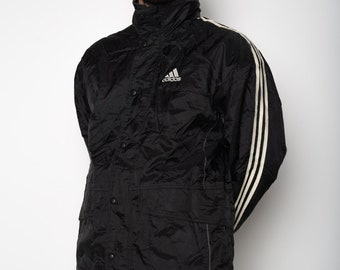 info for 6730d 89409 Black White Striped ADIDAS Winter Coat XL