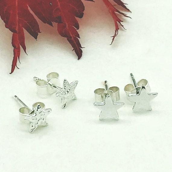 Star Stud Earrings Recycled Silver