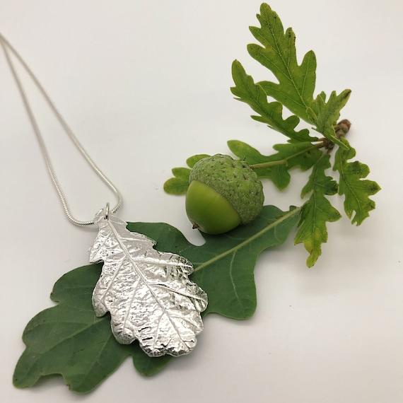 Oak Leaf Necklace, Leaf Jewellery
