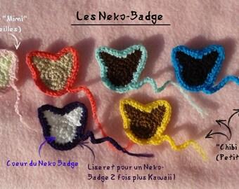 Neko (Cat) Crochet Badges