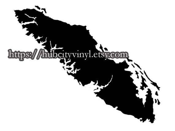 Vancouver island vinyl decal