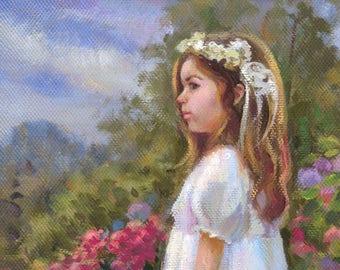 Custom children's portrait, Child's portrait, Family portrait,  Custom portrait of daughter, Portrait of Children from photo