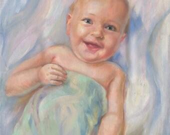 Children's portrait, Kid's portrait,  Oil portrait, Custom portrait, Portrait painting