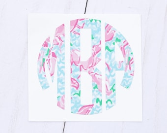 Monogram Car Decal, Monogram Decal, Vinyl Monogram Decal, Vinyl Monogram, Monogram Sticker, Monogram Decal Car, Monogram Car Sticker