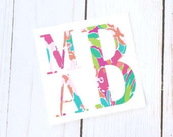 Personalized Monogram Decal, Personalized Monogram Sticker, Personalized Decal Car, Monogram Decal for Car, Monogram Decal for Cup, Decals