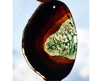 unique Black green druzy agate cabochon stone EA296 for necklace supply for pendant Interesting