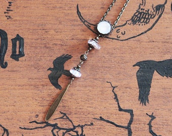 Rock and bronze Crystal Necklace
