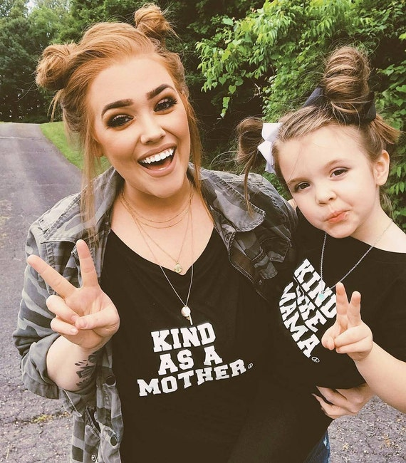 2 Piece SET, Kind As A Mother, Kind Like Mama, Kind Tee, Kindness Tee, Kind as a Mother Shirt, Kindness Shirt, Kind Shirt, Kindness Tshirt