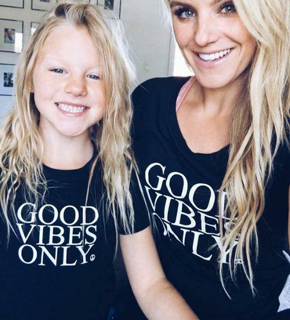 3 Piece SET, Good Vibes Only Black, Good Vibes only Tshirts, Good Vibes Only Shirts, Mama and Me Sets