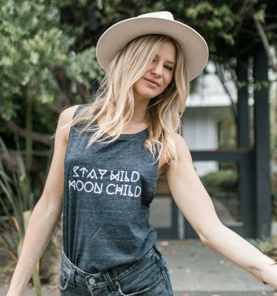 Stay Wild MOON CHILD, Moonchildren, Moon Tee, Moon Child Tee, Moon Child Tshirt, Moon Shirt, Cancerian Tee, Moon Tshirts, Astrology T