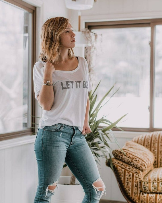 LET IT BE Tee, Beatles Tee, Let It Be Gifts, Let It Be Tshirt, The Beatle, Beatles Tshirt, Let It Be Let It Be, Boho Clothing