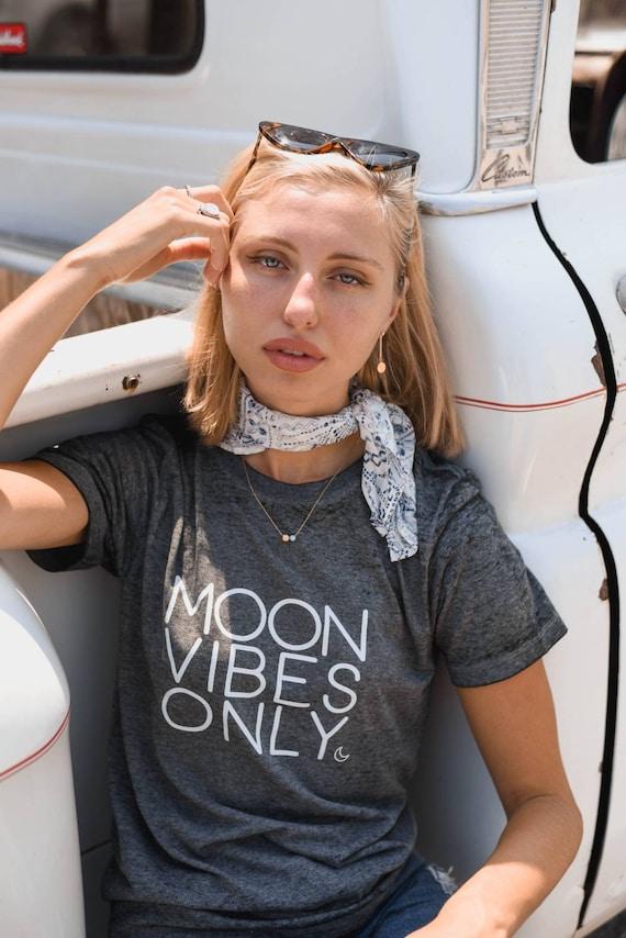 MOON VIBES ONLY, Acid Wash Tee, Moon Tee, Moon Child, Moonchildren, Moon Child T, Moon Child Tshirt, Moon Shirt, Cancerian Tee, Moon Tee