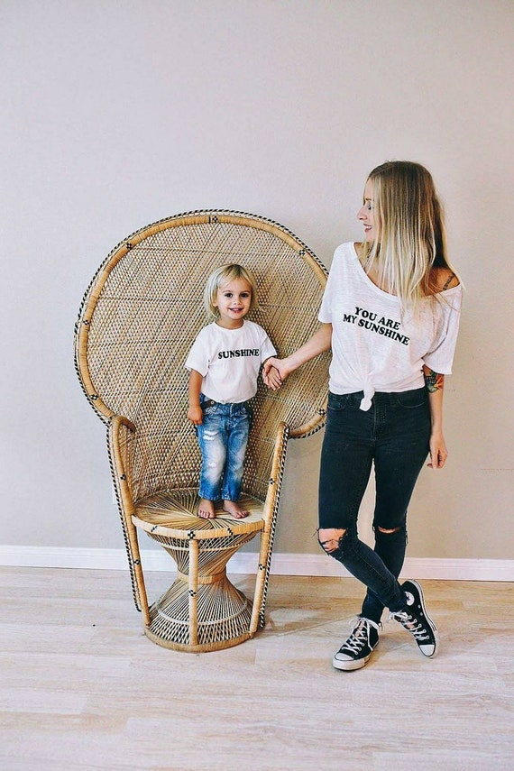 2 Piece SET, You Are My Sunshine, You Are My Sunshine Tshirts, Sunshine Tee, Mama and Mini Set, Sunshine Set