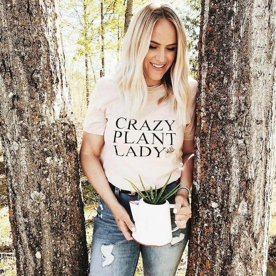CRAZY PLANT LADY Tshirt, White Marble Tank, Plant Obsessed, Plant Tshirt, Plant Lady Tshirt, Crazy Plant Lady Tee, Crazy Plant Lady T