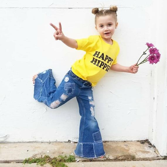 HAPPY HIPPIE Kid's Tee, Hippie Kid's Tshirt, Hippie Kids, Hippie Baby