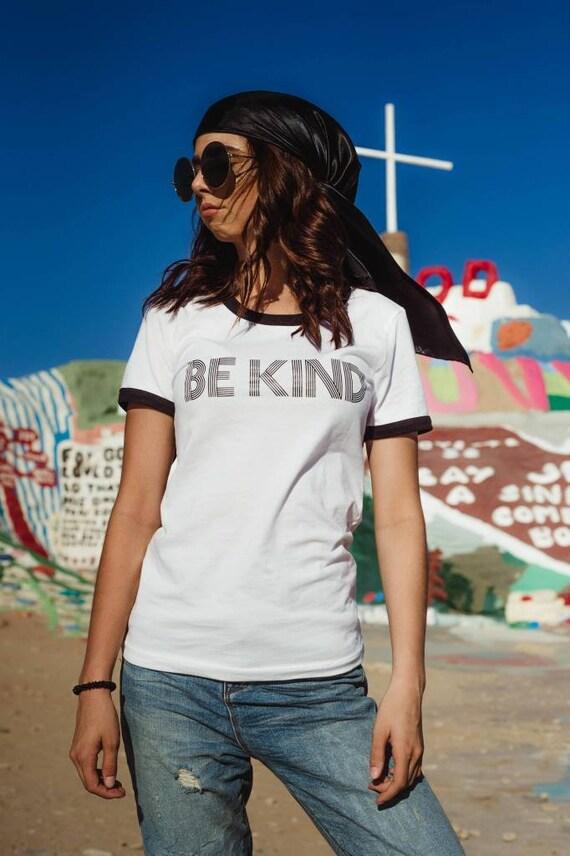 BE KIND Ringer Tee, Kind tshirt, Be Kind Tshirts, Be Kind Tops, Retro Be Kind, Be Kind Tees, Kindness Tops, Ringer Tshirt
