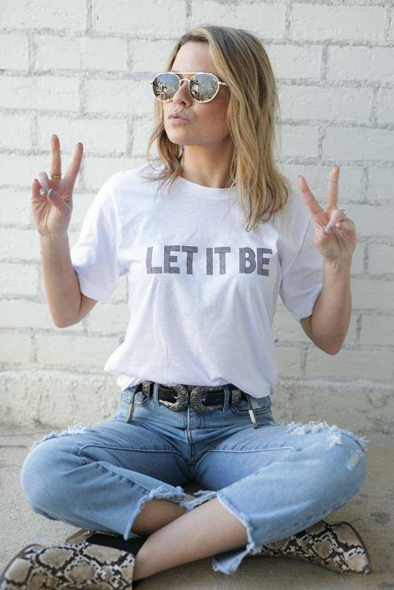 LET IT BE Tee, Beatles Tee, Let It Be Gifts, Let It Be Tshirt, The Beatles Tee, Beatles Tshirt, Let It Be Let It Be
