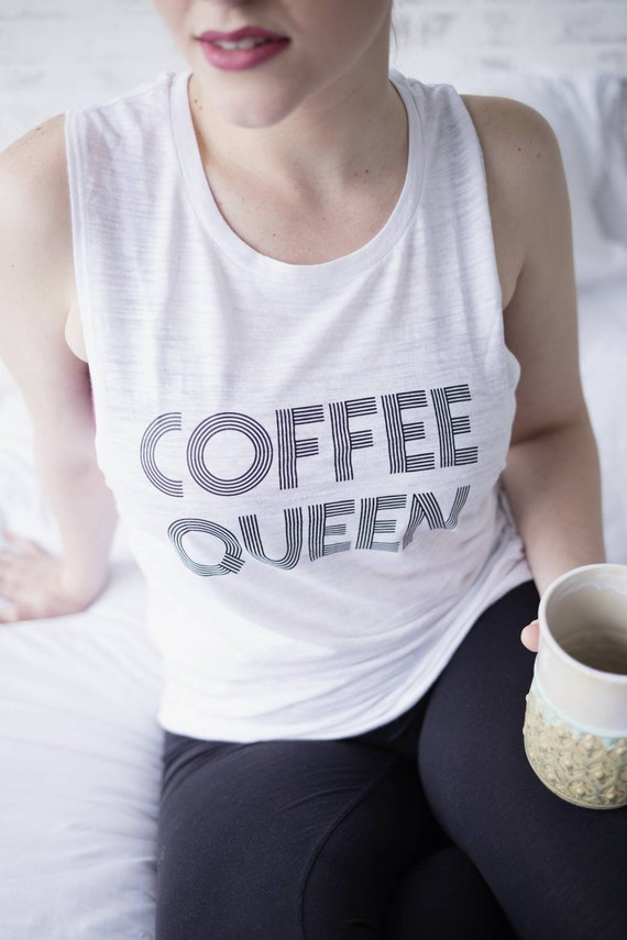 COFFEE QUEEN Tee, Coffee Queen, Caffeine Queen, Coffee Tshirt, Coffee Queen Tshirt, Coffee Tees, Coffee Shirts, Coffee Tshirts