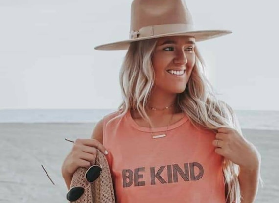 BE KIND Tee, Sunset Tees, Kind tshirt, Be Kind Tshirts, Be Kind Tops, Retro Be Kind, Be Kind Tees, Kindness Tops
