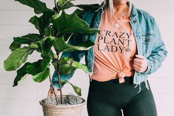 CRAZY PLANT LADY Tshirt, Sunset Tee, Plant Obsessed, Plant Tshirt, Plant Lady Tshirt, Crazy Plant Lady Tee, Crazy Plant Lady T