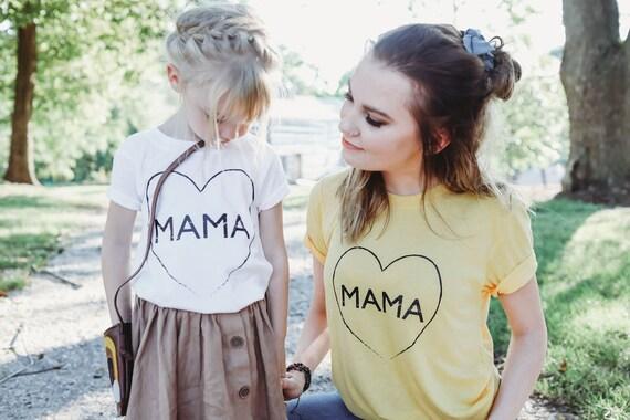 2 Piece SET, Mama Heart, Mama Shirts, Mama Tee, Mama Top, Mama Tshirt, Mom Life Tshirt, Mama Shirt, Mom Tee, Mom Tshirt