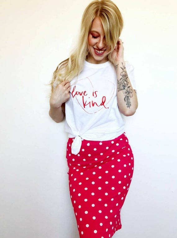 LOVE IS KIND Tee, Red Ink, Love Shirt, Love is Kind Tshirt, Kindness Shirts, Kindness Tees, Love Tops, Love is Kind Tshirts
