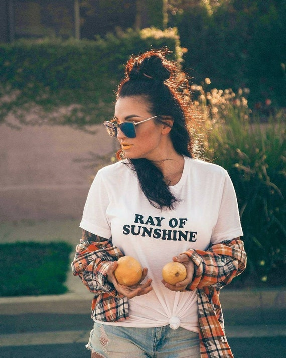 RAY OF SUNSHINE, White or Yellow Gold Tee, Sunshine Vibes, Ray Of Sunshine Tee, Ray Of Sunshine Tshirt, Ray of Sunshine, Good Vibes Tshirt