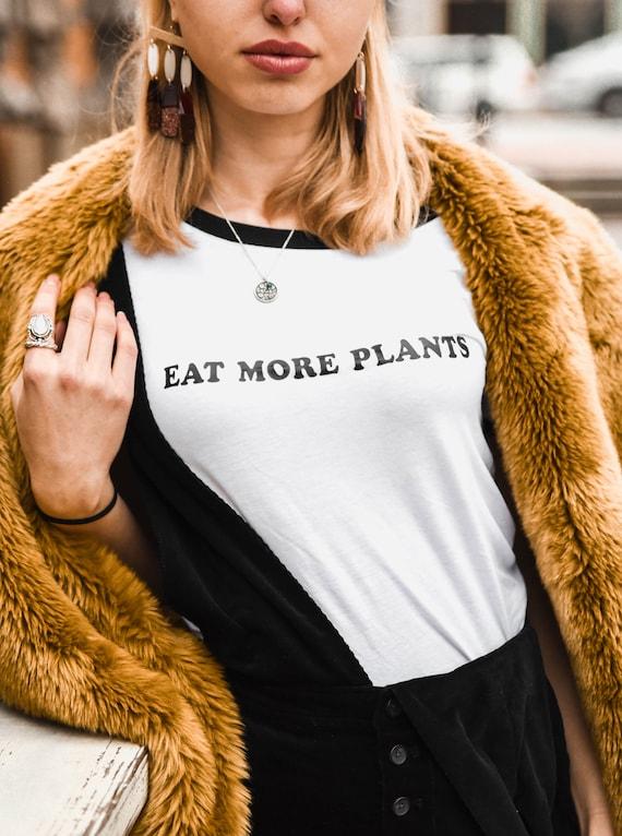 EAT MORE PLANTS, Plant Nature Tshirt, Plant Obsessed, Plant Tee, Plant Lady Tshirt, Crazy Plant Lady Tee, Crazy Plant Lady T, Vegan Tee