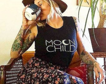 MOON CHILD Tees, Moon Child, Moonchildren, Moon Tee, Moon Child Tee, Moon Child Tshirt, Moon Shirt, Cancerian Tee, Moon Tshirts, Astrology T