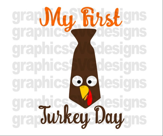 My First Turkey Day Vg Dxf Png Files For Cricut And Etsy
