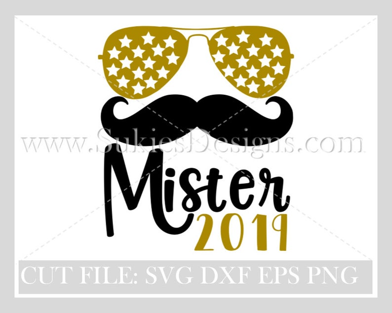 Mister 2019 SVG, DXF, PNG Files for Cricut and Silhouette cutting machines  New Years Eve Svg fie, 2019 svg,new years 2019 svg,