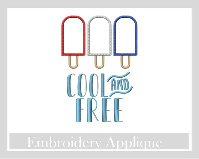 SALE Cool and Free Appliqué designs, Machine embroidery designs,4th of July  appliqué, Appliqué designs, patriotic appliqué design,summer app