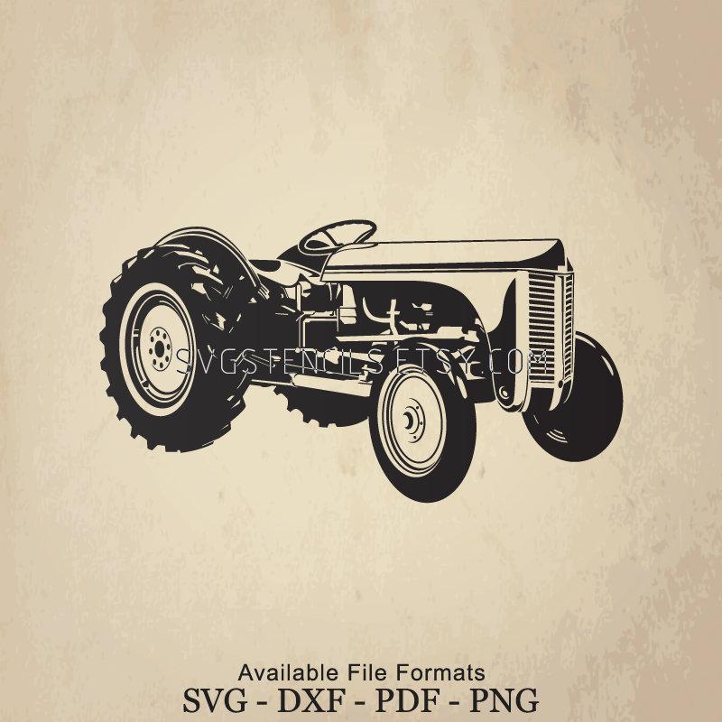 SVG Vintage Tractor Stencil Silhouette Studio Monogram | Etsy