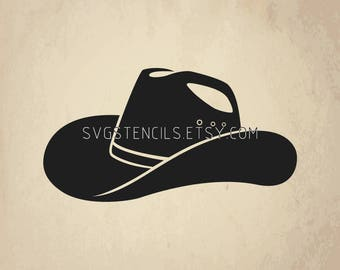 Cowboy hat svg | Etsy