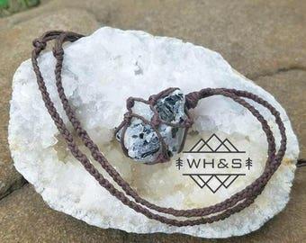 Hemp Wrapped Rough Moonstone Necklace, Rainbow Moonstone Jewelry, Healing Crystal Jewelry, Healing Crystal Necklace, Stone Pendant