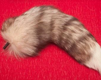 a88936648e7 DETACHABLE Brown Black Coloured Real Fur Cat Dog Fox Tail Choice of Plug