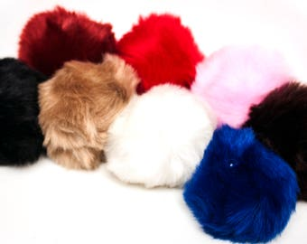 """Bunny Tail 10 cm (4"""") Soft Fluffy Faux Fur Bunny Rabbit Tail Plug In Various Colours."""