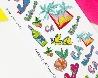 California stickers, CA stickers, Planner Stickers, Scrapbooking, Filofax, TN Stickers, Planning decoration