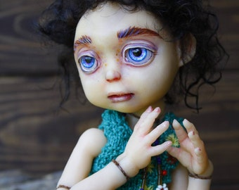Lulu the Elven – BJD 1/6 pu, dd, art doll, ooak, elf, girl, artist made collection doll (OlVik Dolls, Ukraine Kiev)
