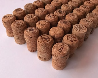 50 Count - Recycled Champagne Corks - USED / variety pack - perfect for home made gifts, crafts and DIY projects!