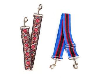 be1e130a5a949 2 handbag strap - Red vintage strap and Blue Red strap - Handbag Purse strap  - Cross Body strap - Vegan Leather Bag strap