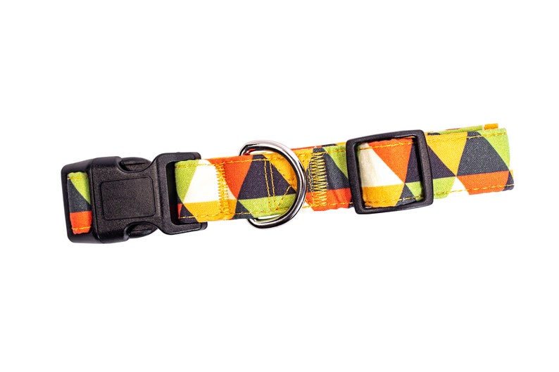 Abstract Dog Collar Designer Patterns on Long Lasting Adjustable Strong and Durable Collars for Large and small Dogs
