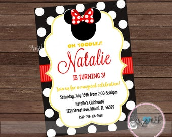 minnie mouse and daisy duck party invitation minnie and daisy etsy