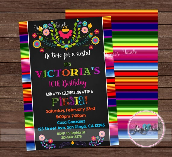 Fiesta Invitation Birthday Party Mexican