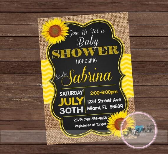 Sunflower baby shower invitation picnic baby shower picnic etsy image 0 filmwisefo