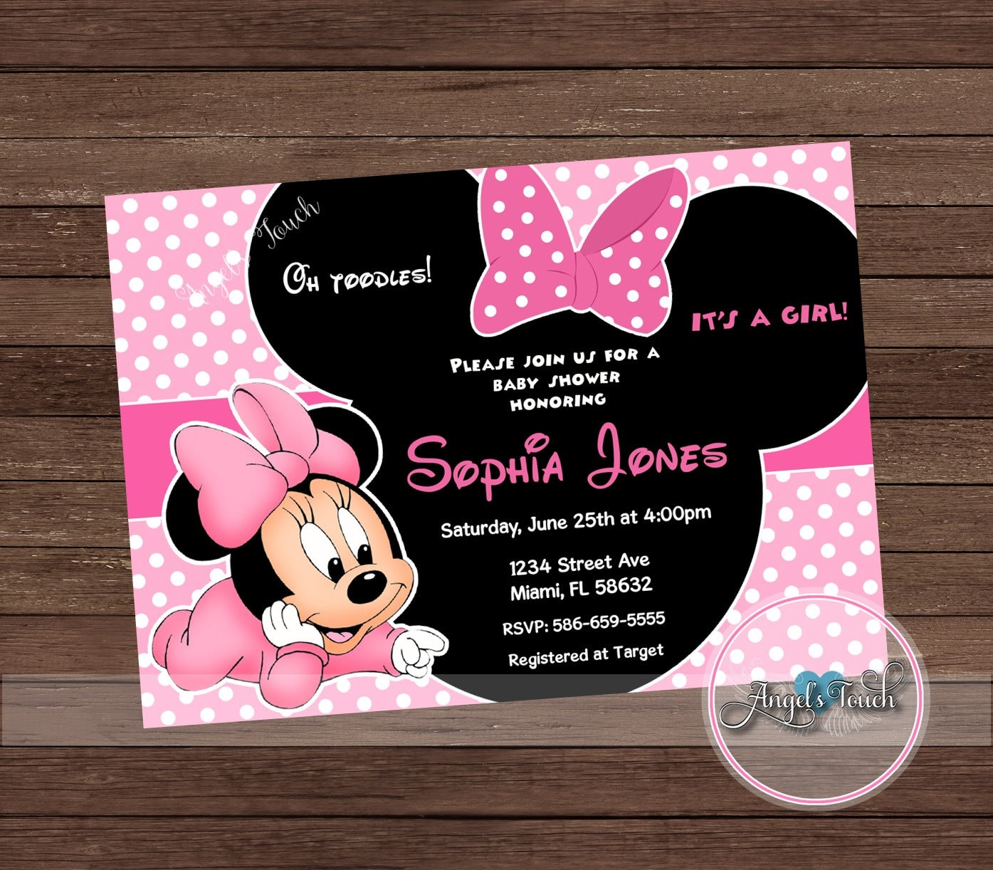 Minnie mouse baby shower invitation minnie mouse baby shower etsy zoom filmwisefo