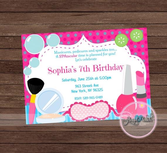 Spa party invitation girl spa birthday party invitation spa etsy image 0 filmwisefo