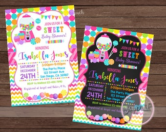 Candyland Baby Shower Party Invitation, Candy Land Baby Shower Invitation, Candyland Baby Shower Invitation, Baby Shower, Digital File